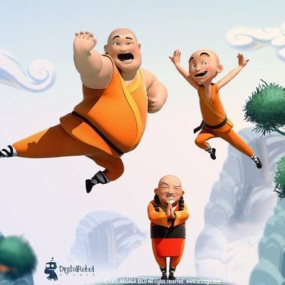 3 monks show portfolio