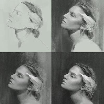 Portrait study 01 wip