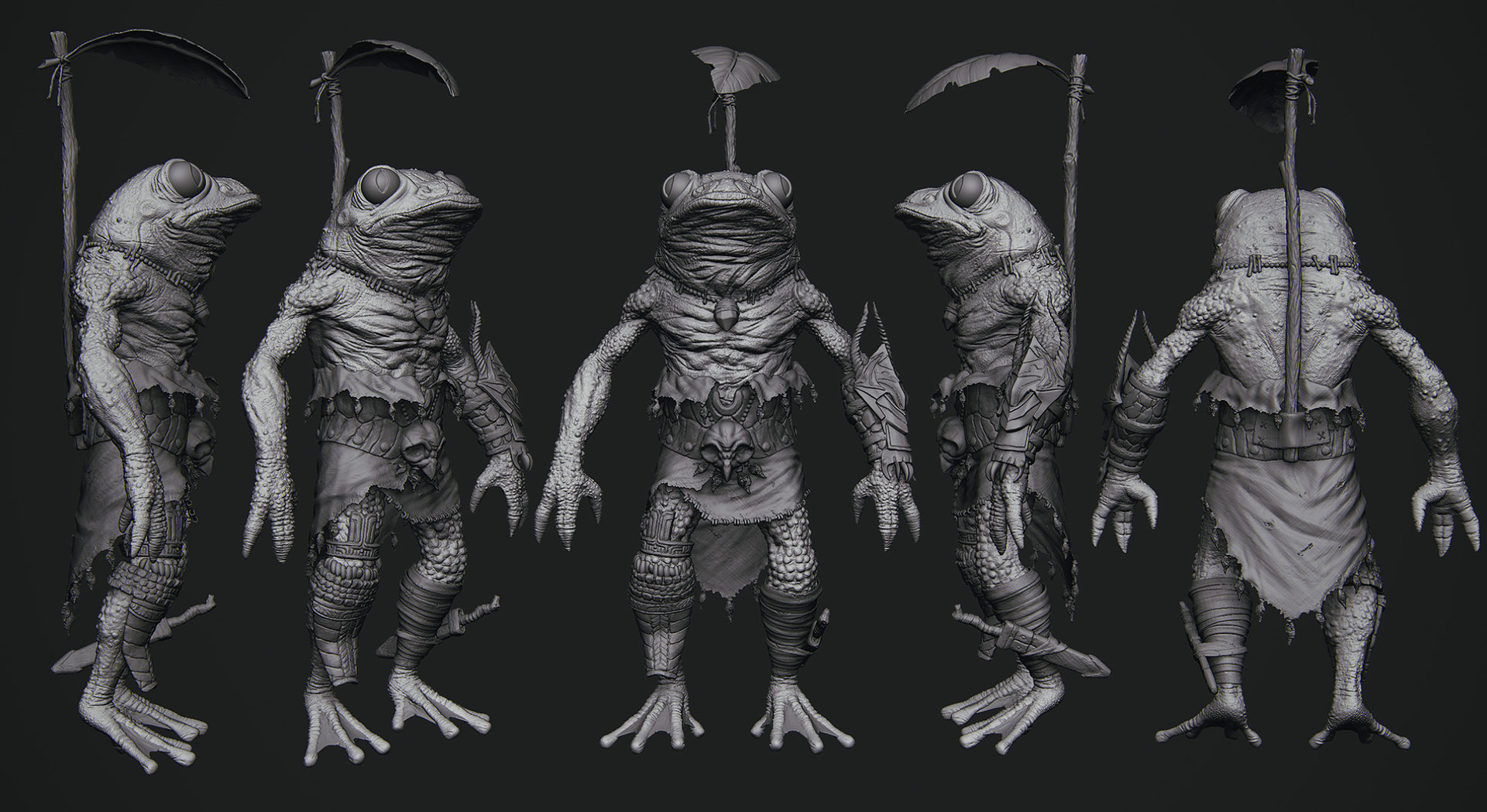 Alexei dmitriev frog sculpt final turnaround