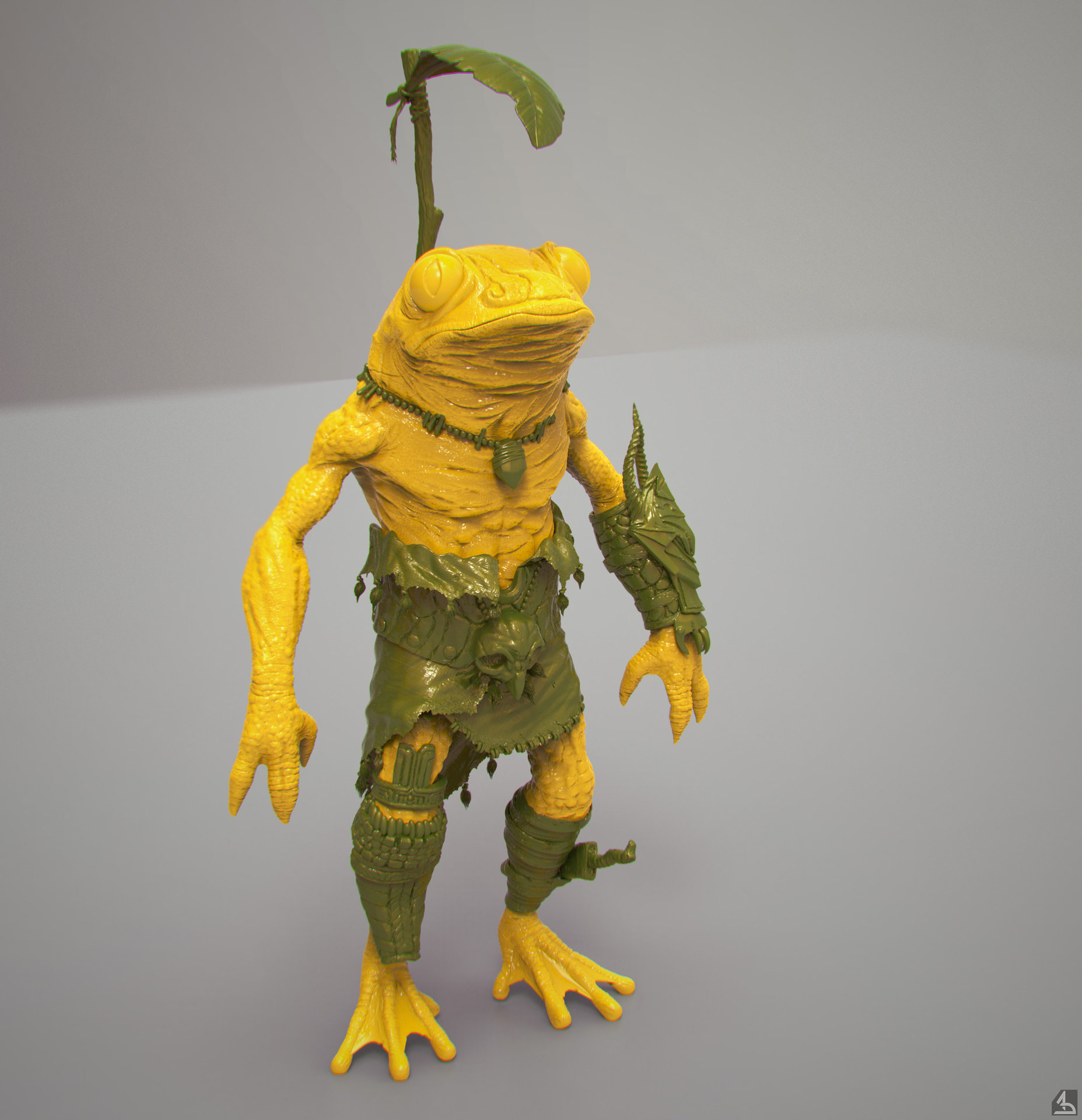 Alexei dmitriev frog sculpt render ks hd