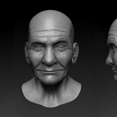 Audrey wong old man head by audreee d4sm7gs