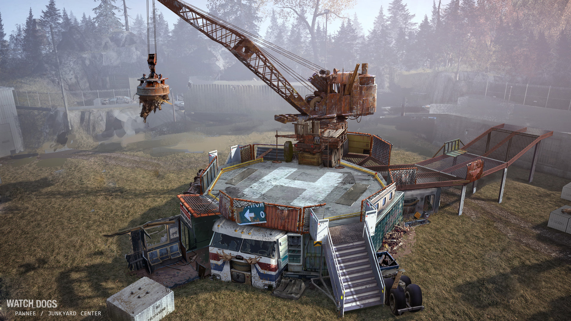 ArtStation - Watch Dogs - T-bone Junkyard concept art, Michel Donze