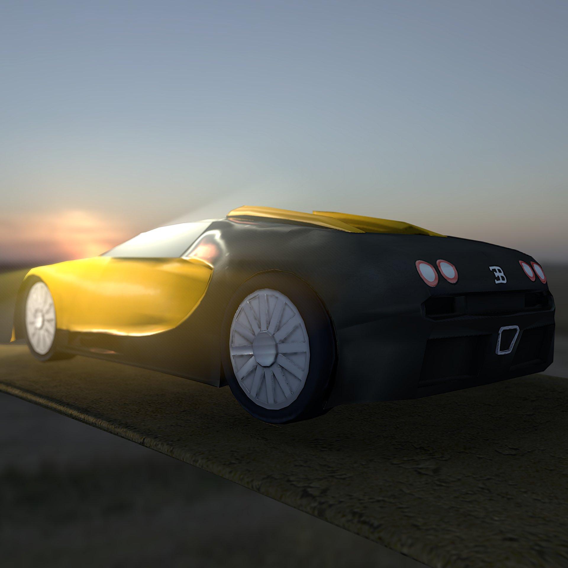 Custom Bugatti Veyron Super Rear View: Bugatti Veyron Back