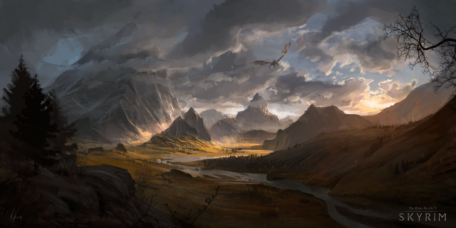 ArtStation - Skyrim - Whiterun Hold, Michal Kus