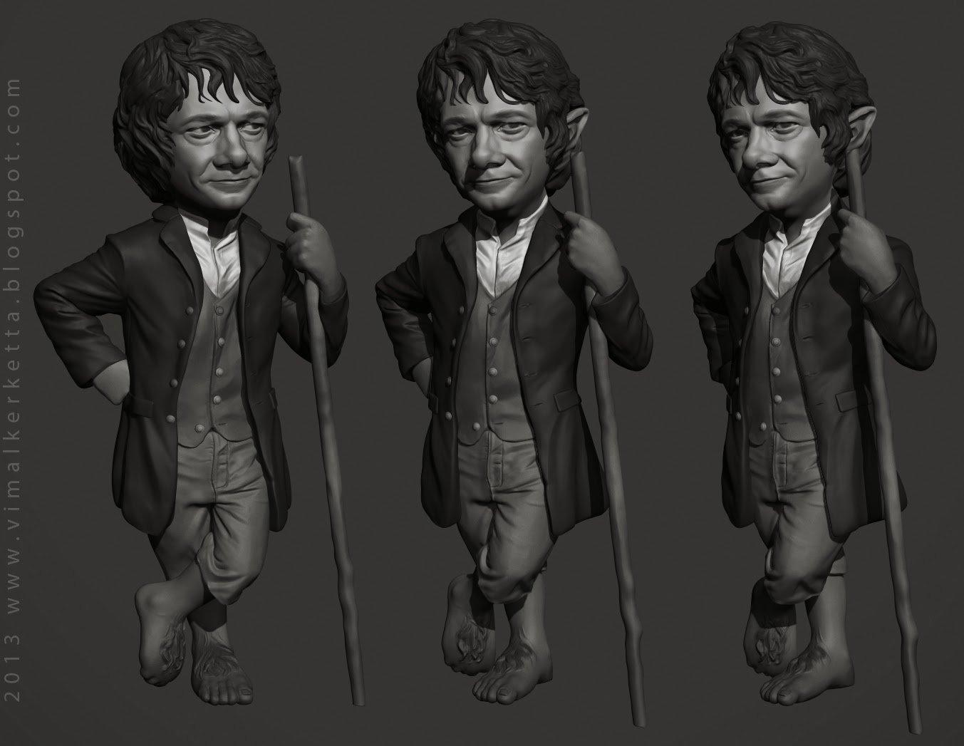 Bilbo baggins Caricature