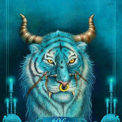 Aishwaary anant fantasy tiger blue