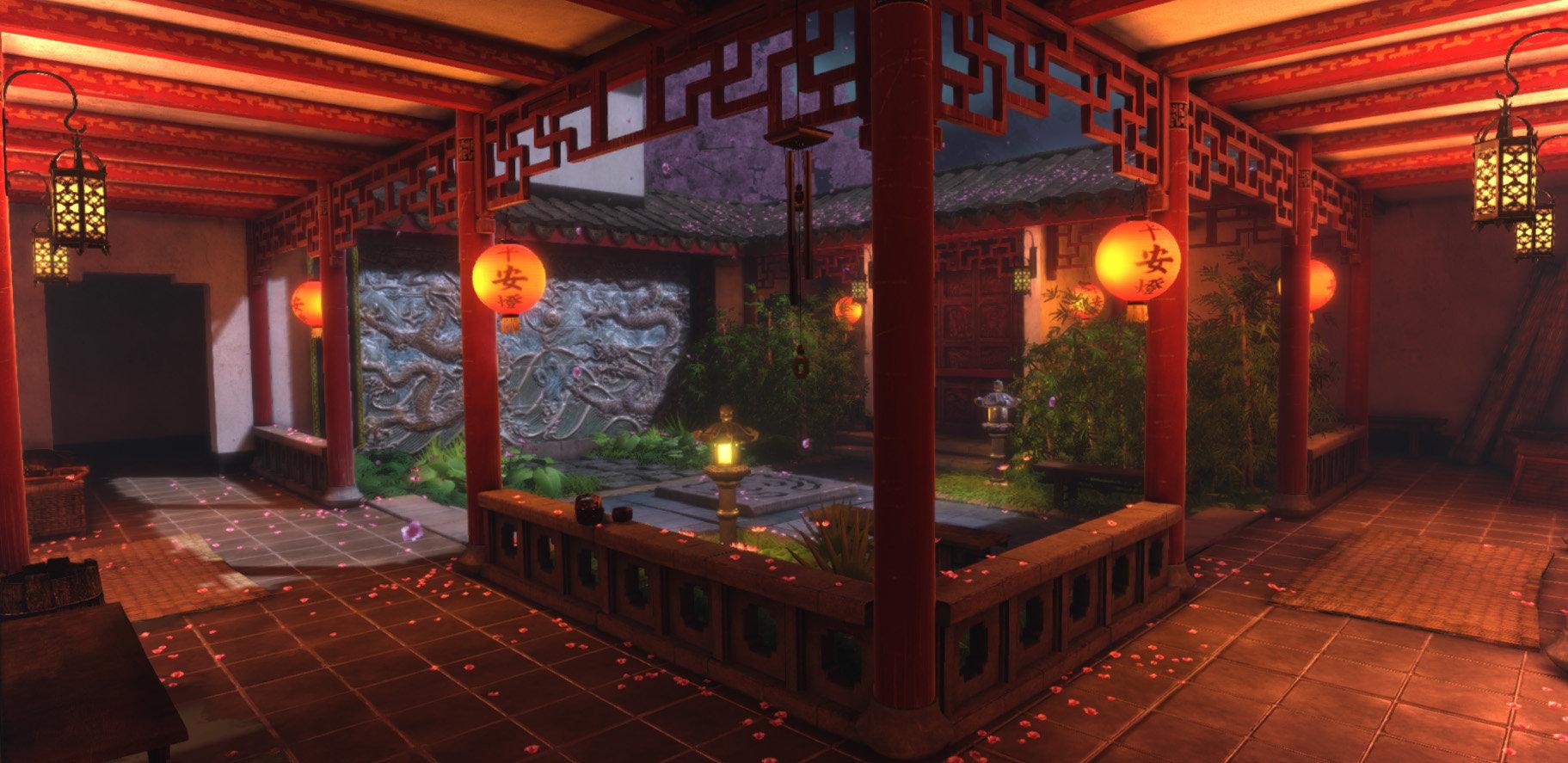 Jeff severson chinese courtyard night 01