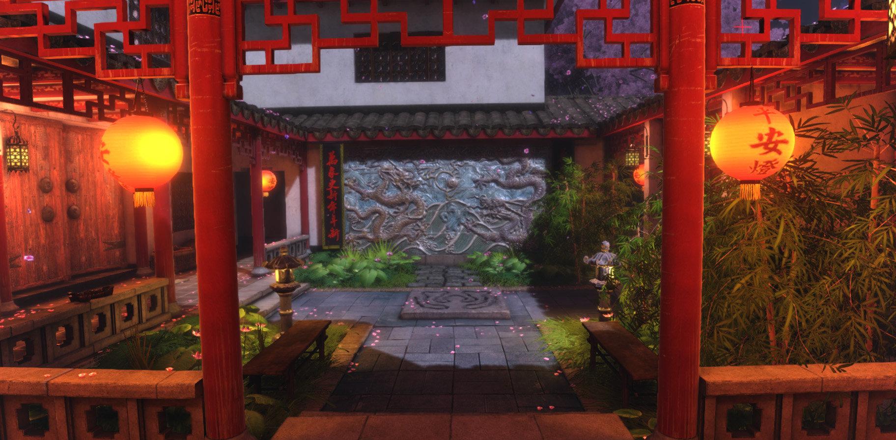 Jeff severson chinese courtyard night 02