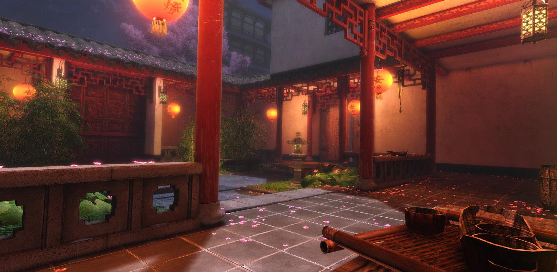 Jeff severson chinese courtyard night 08
