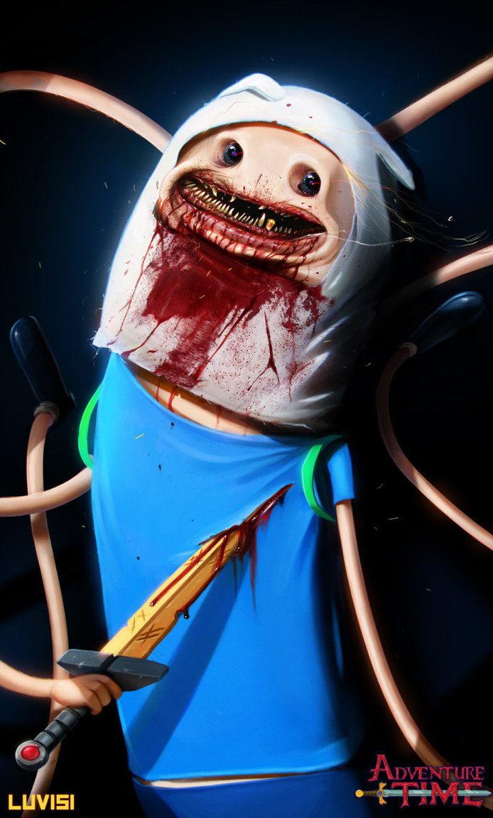 Dan luvisi nightmare finn adventure time by danluvisiart d64futq