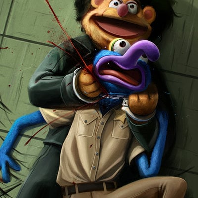 Dan luvisi no country for old muppets by danluvisiart d680svx