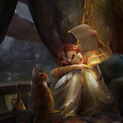 Kan liu 666k the elf poet and cat