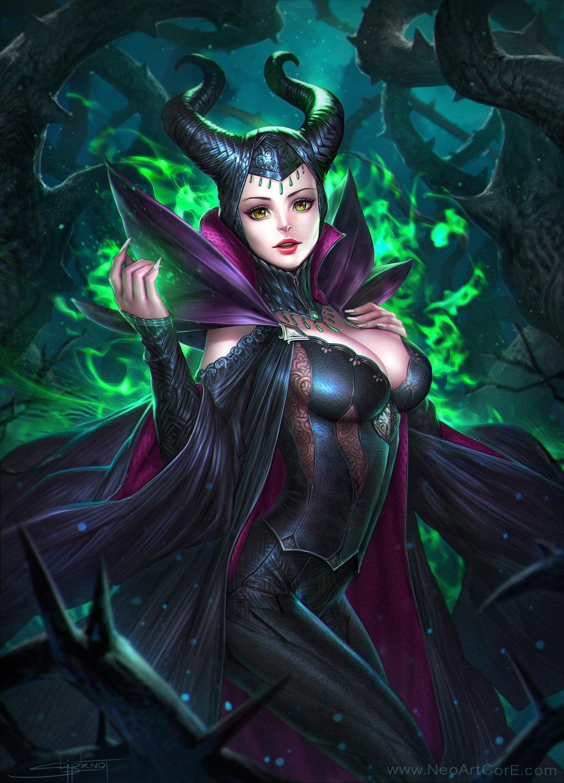 Artstation Maleficent Fanart Neoartcore Thongmai