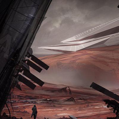 Jorge jacinto desert planet crash by jorgejacinto