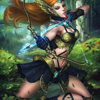 Ayya saparniyazova high elf archer by ayyasap