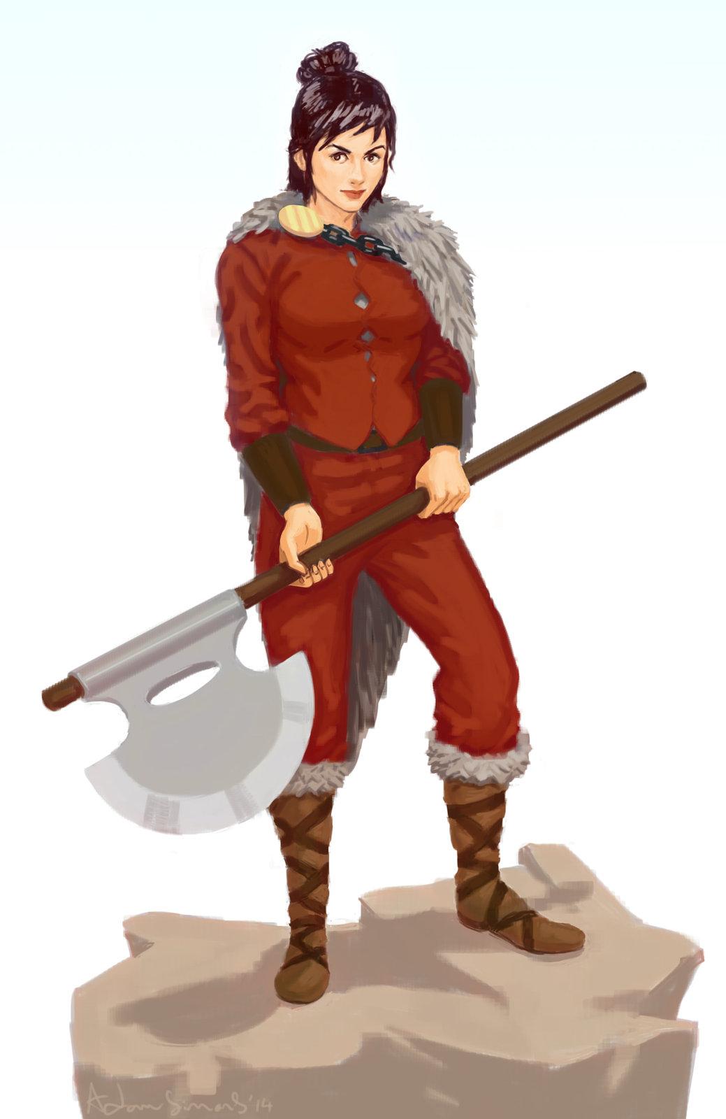 Lady barbarian