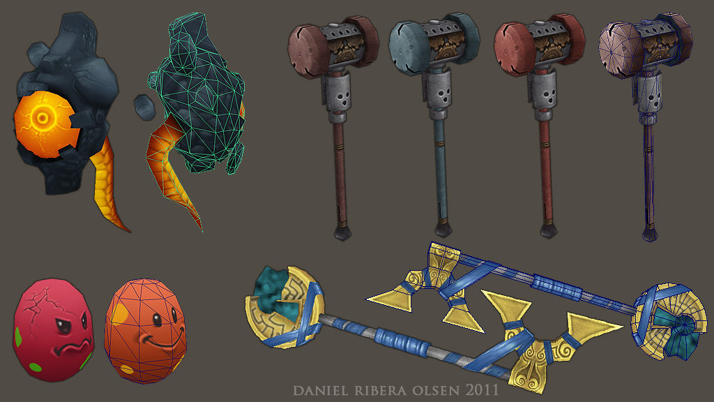 More Pets & Weapons for the player avatar, 3D