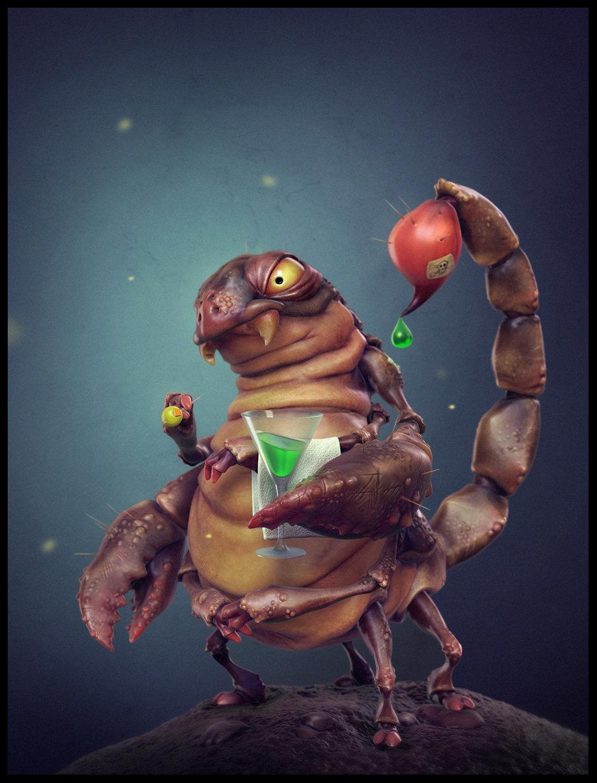 3D creative scorpion