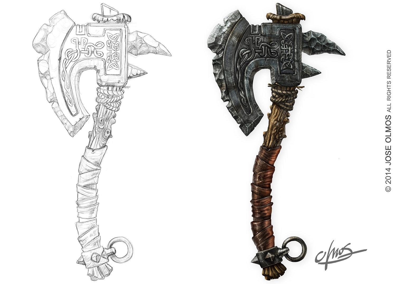 ArtStation - Viking Axe , Jose Olmos