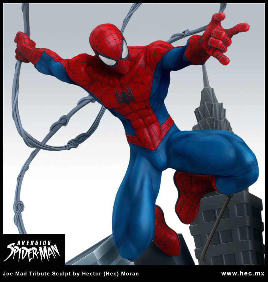 Avenging Spider-Man Statue Design