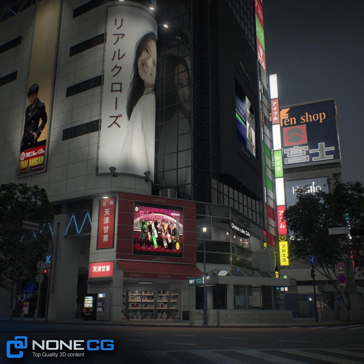 3D Tokyo Shibuya by NoneCG