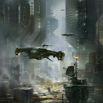 Alex ichim sci fi city