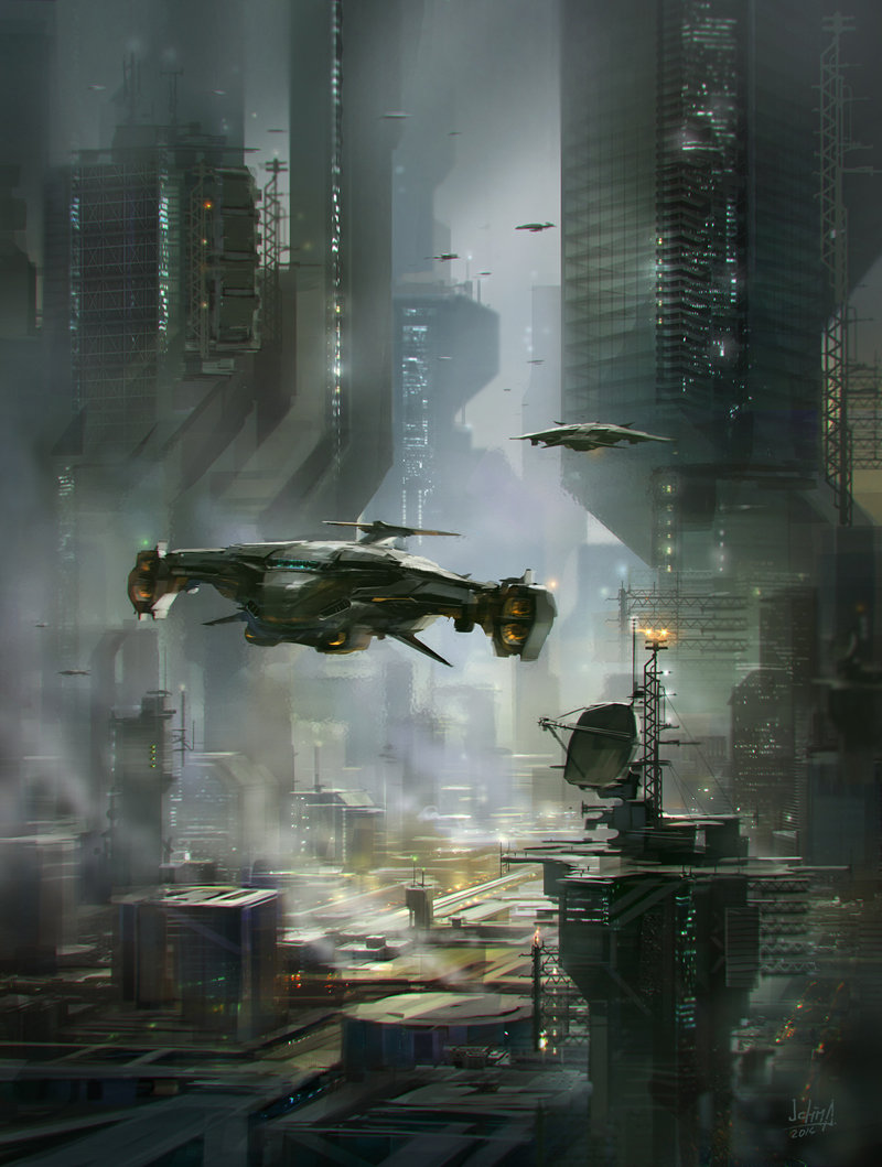 Alex ichim sci fi city