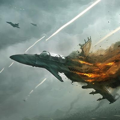 Francisco badilla avion de combate derrivado 2