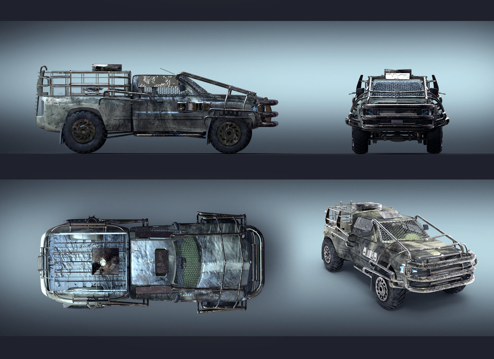 Concept Art Zombie Apocalypse Vehicles
