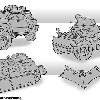 Travis lacey travis lacey brainstorm zombie vehicle sketches web