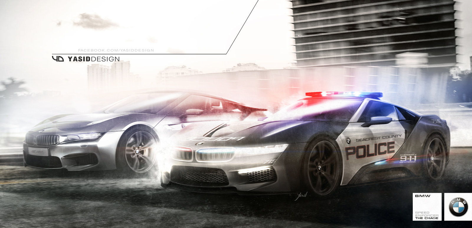 BMW cop/racer concept chase