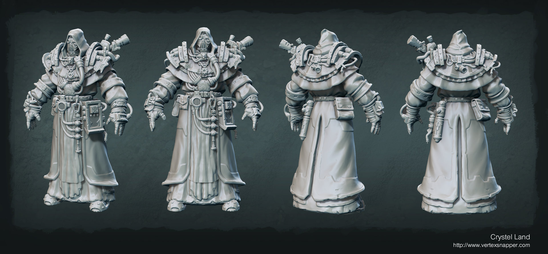 Crystel land techpriestsculpt
