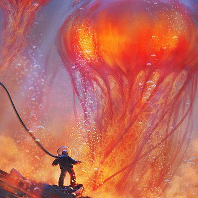 Piero macgowan jellyfish rising