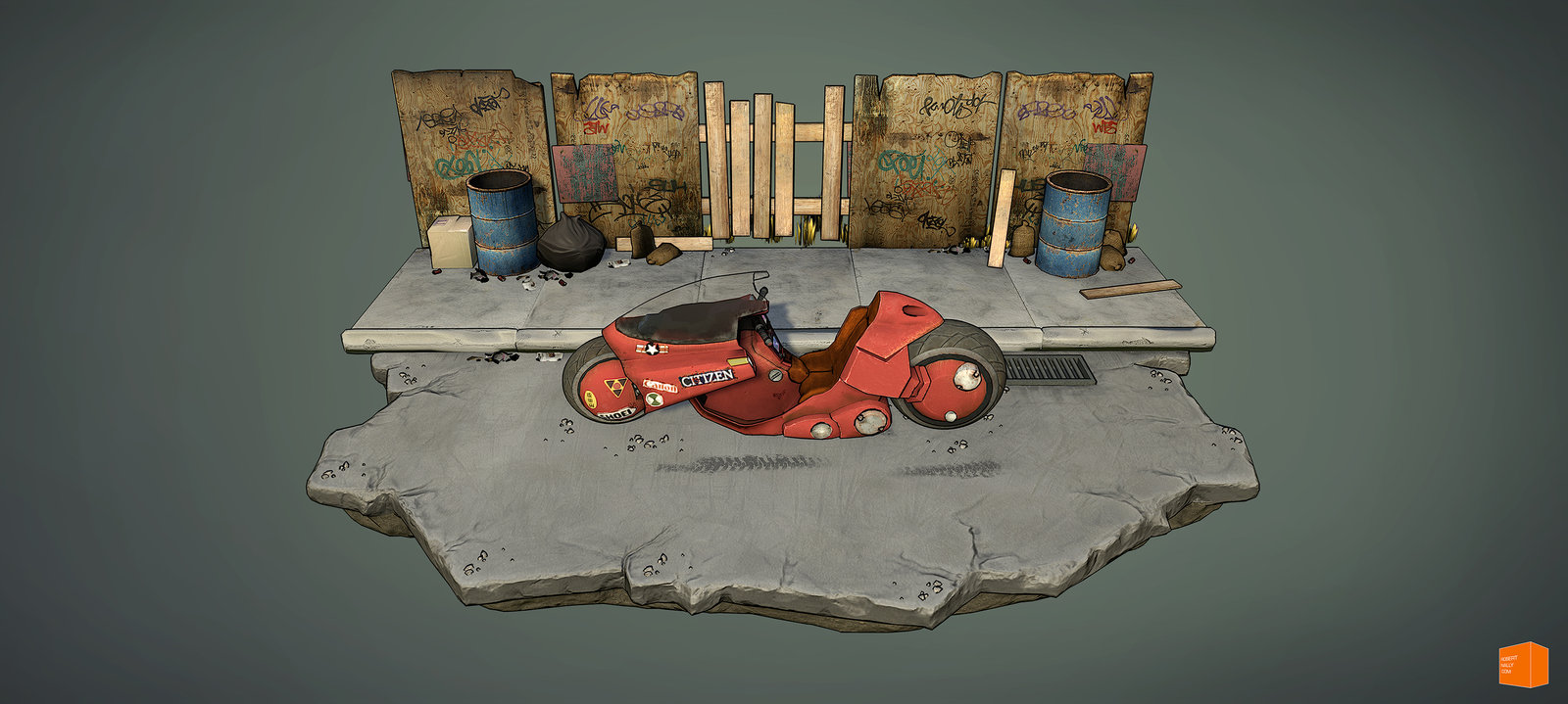 Fan Art of Kaneda's Bike from Akira