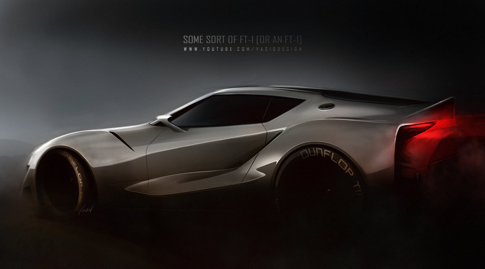 Sketching /rendering a Toyota FT-1 concept from scratch