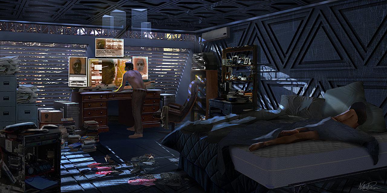 artstation blade runner redesign nathaniel pengson. Black Bedroom Furniture Sets. Home Design Ideas