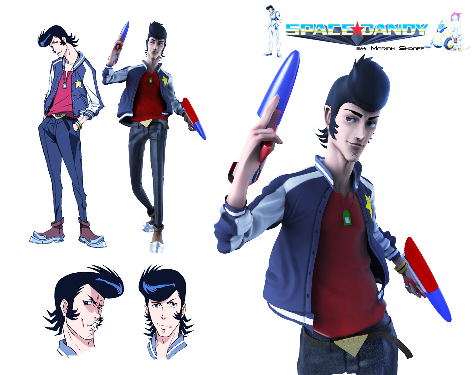 artstation space dandy 3d model mariah shoaff