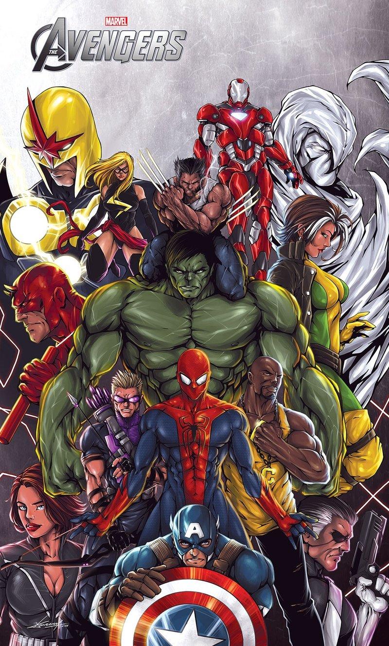 Kareem ahmed avengers poster