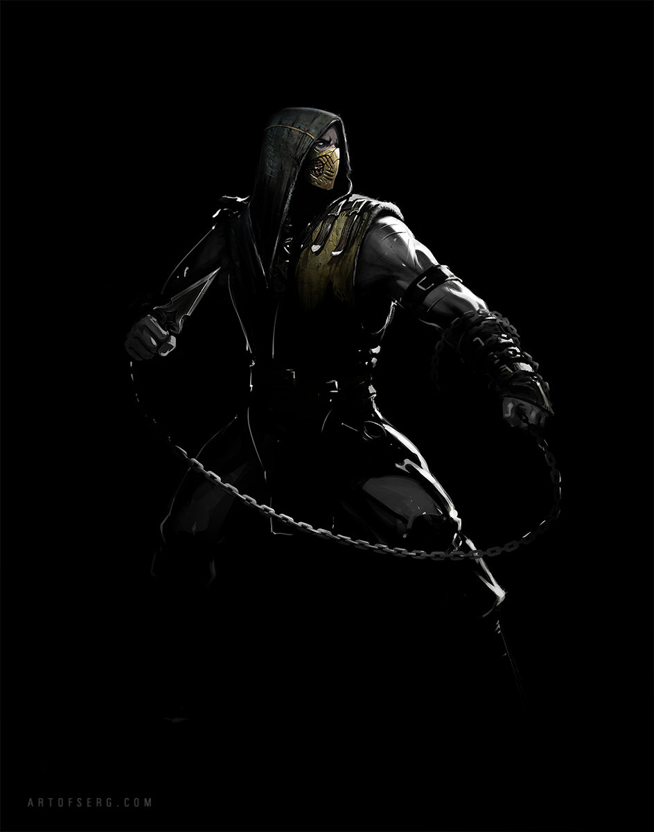 Artstation Mortal Kombat X Scorpion Serg Souleiman
