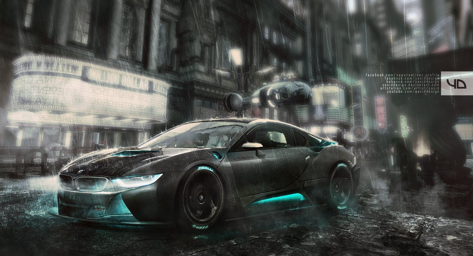 Blade Runner i8 - front view + WIP VIDEO