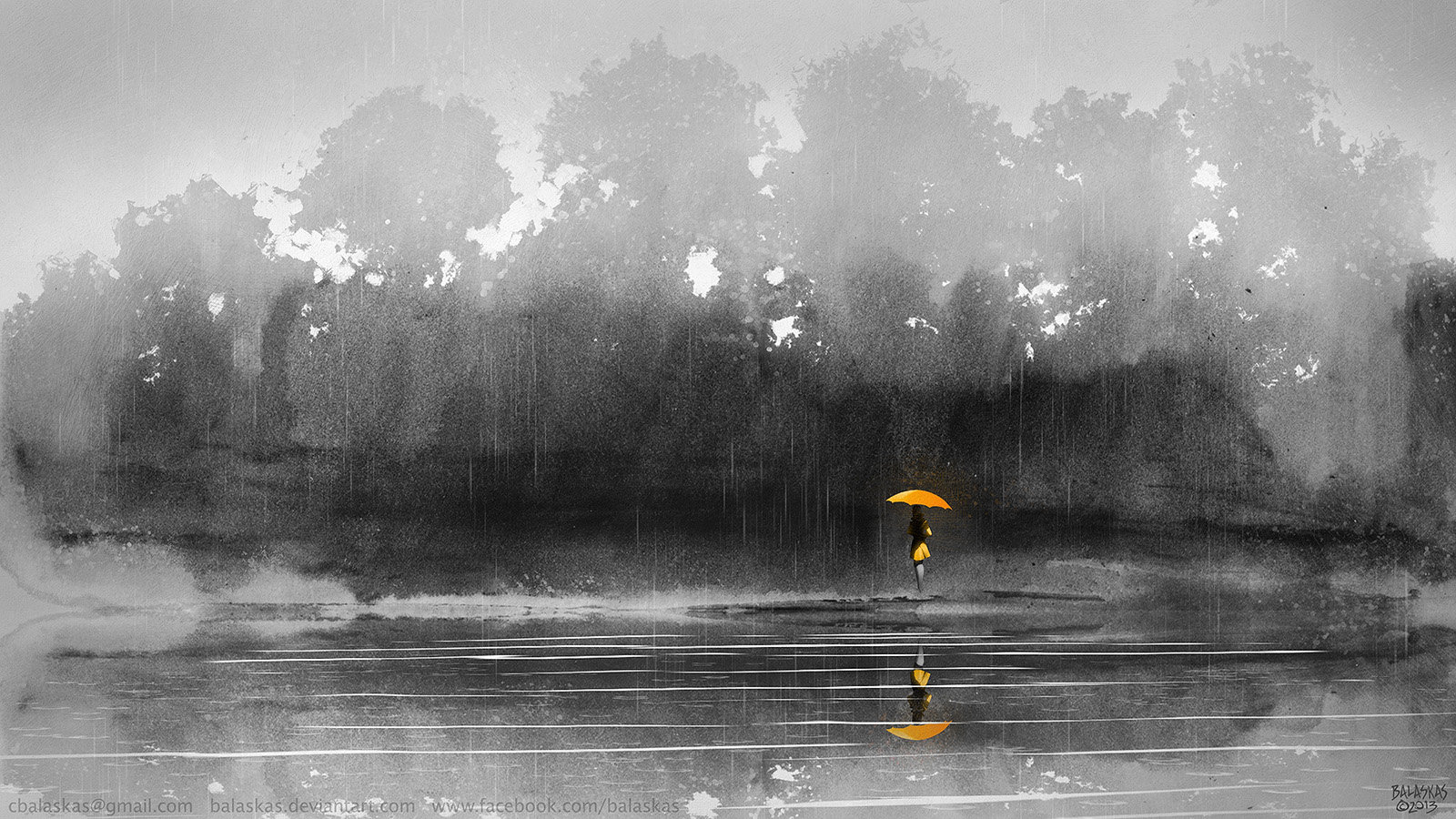 Christopher balaskas umbrella girl