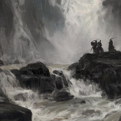Gal or 140813 samurai waterfall