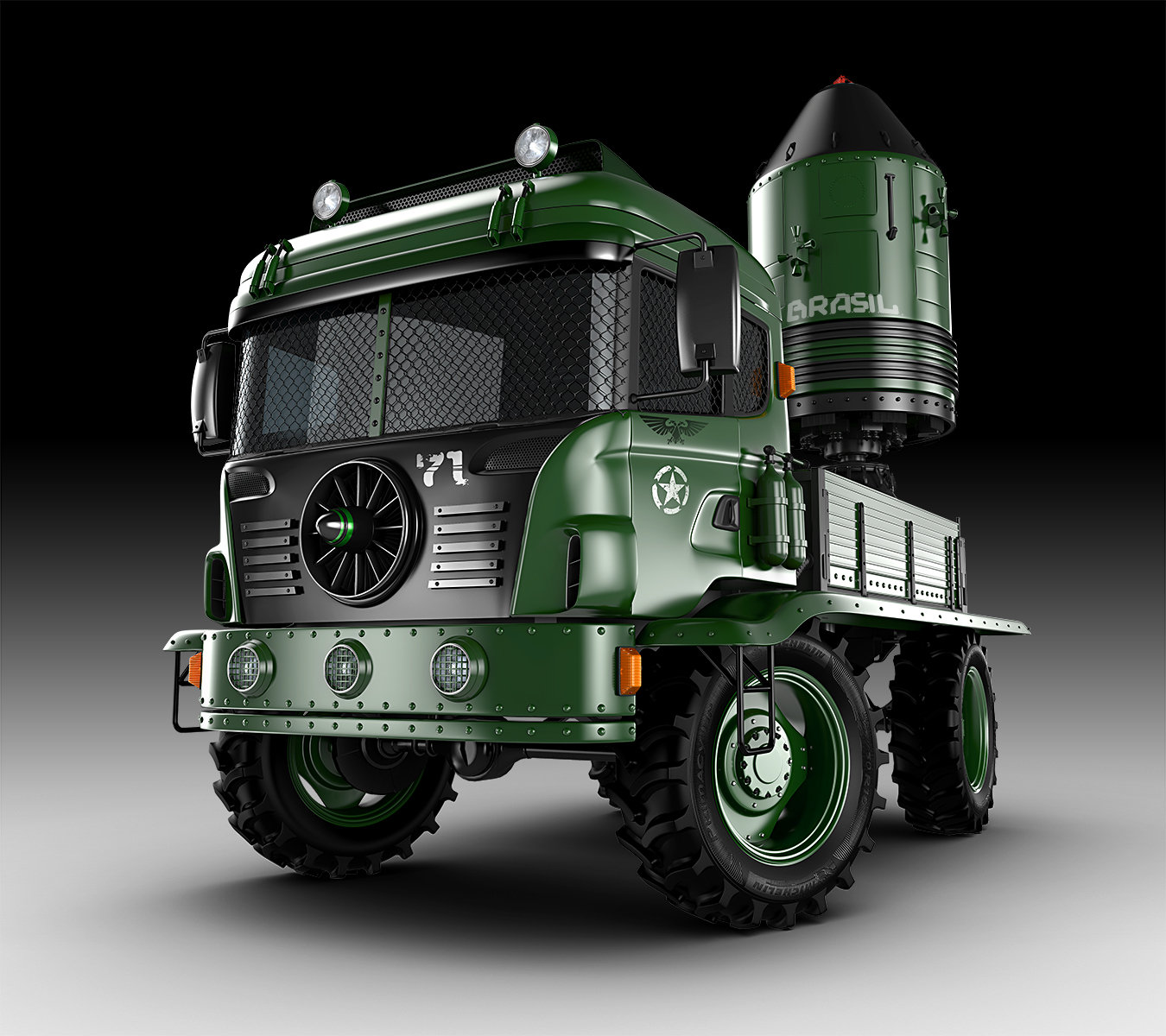 Jomar machado war truck