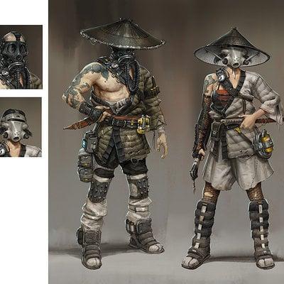 Hethe srodawa samurai wasteland outfits