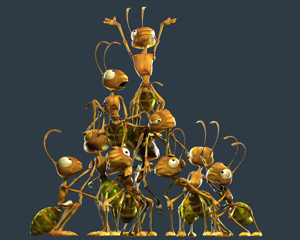 Ants for a VERY old TVC