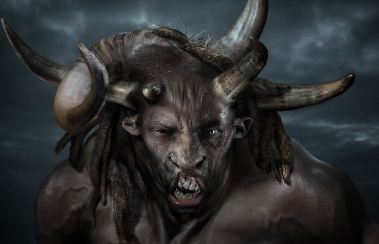 Minotaur  head design variations 03, done for Wrath of the Titans