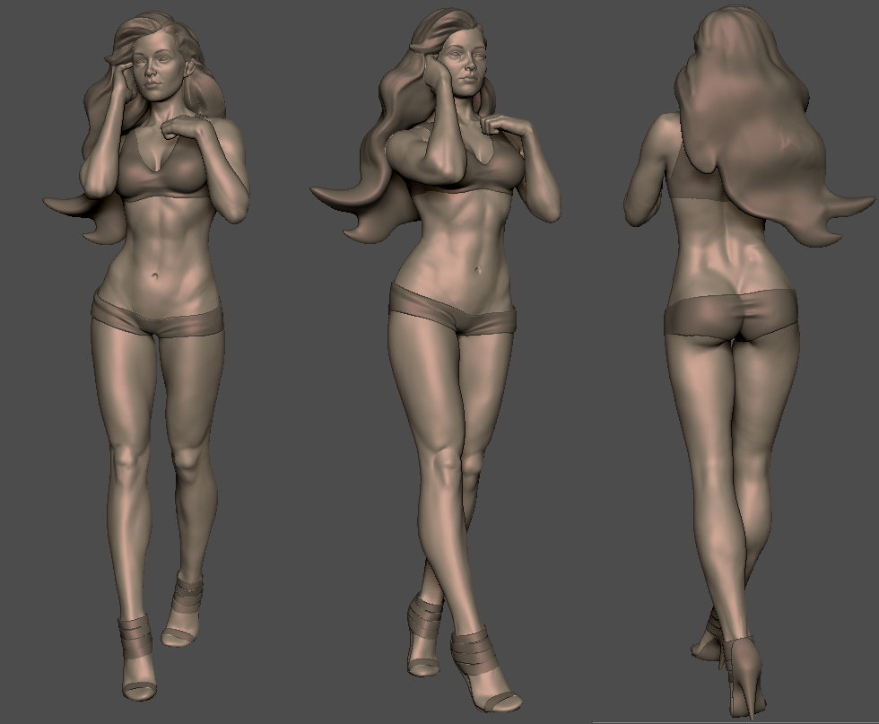 Konrad Sakowski - Female anatomy for 3DTotal.com\'s book