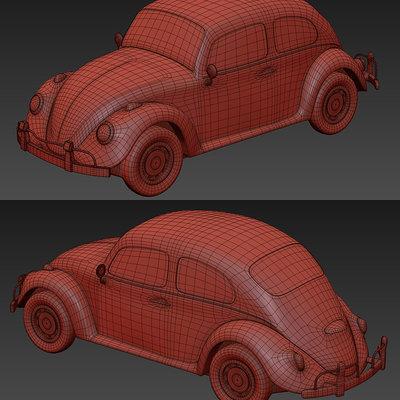 Maurizio barabani vw beetle 3d model to print