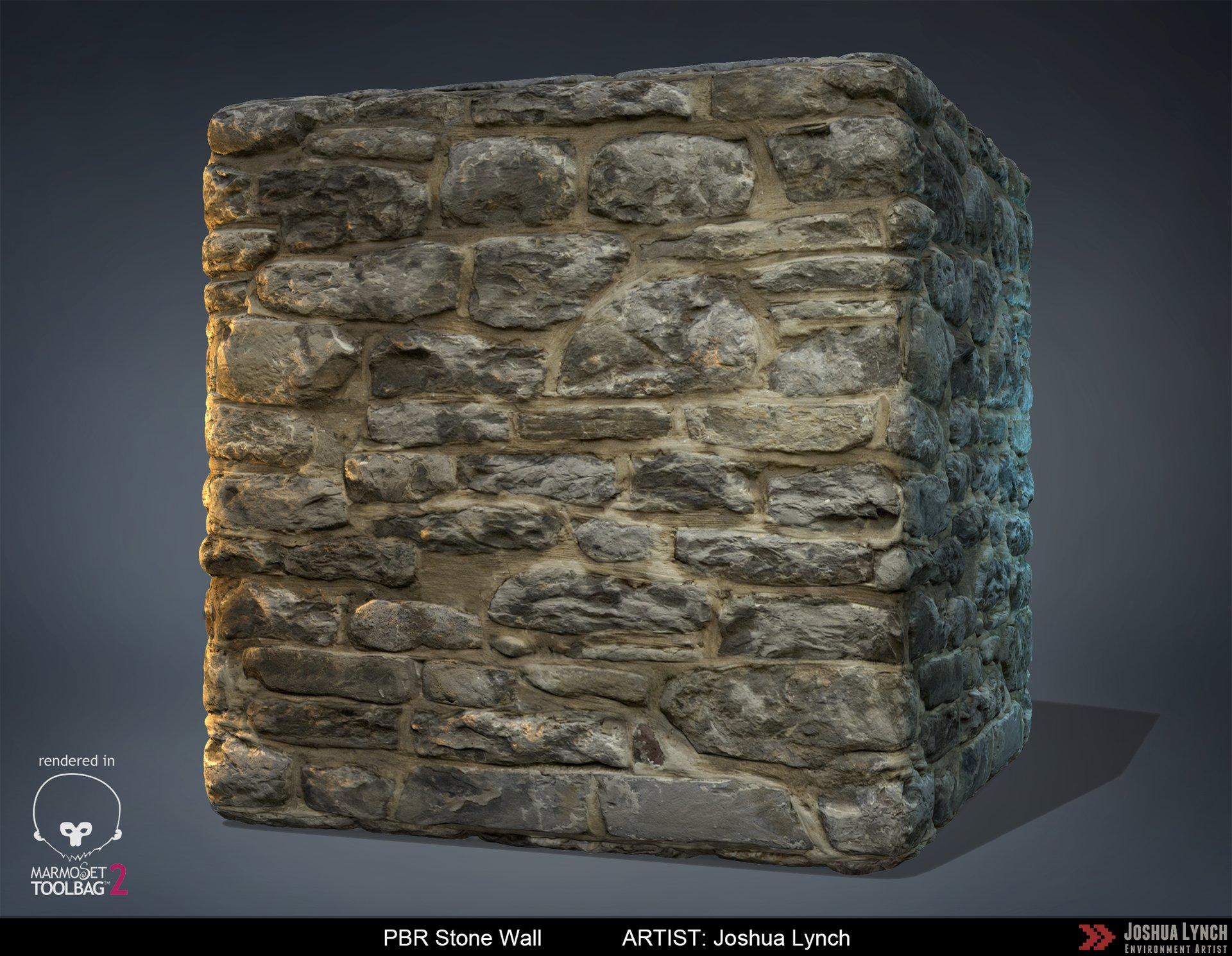 Joshua lynch pbr stone wall josh lynch cube