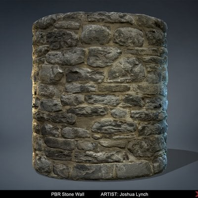 Joshua lynch pbr stone wall josh lynch cylinder